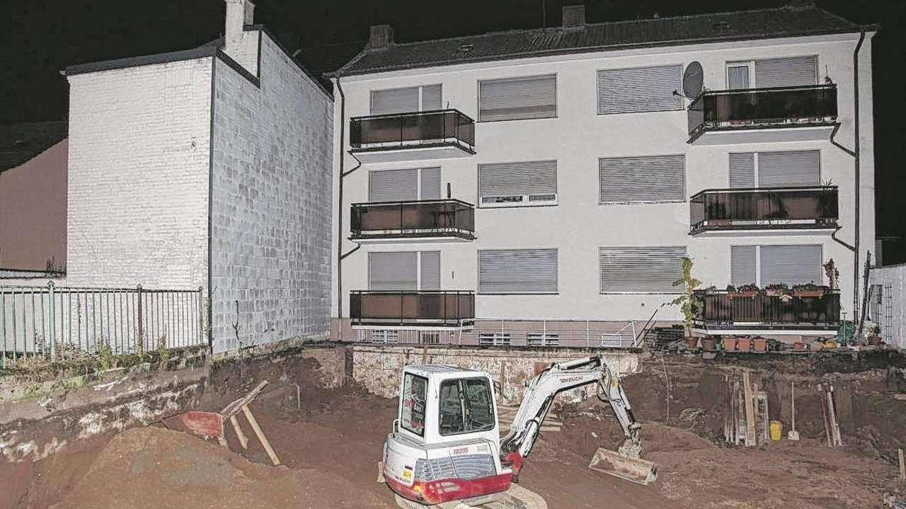Und plötzlich sank das Nachbarshaus ein